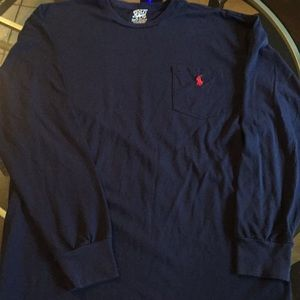 Men's medium l/s polo shirt. EUC